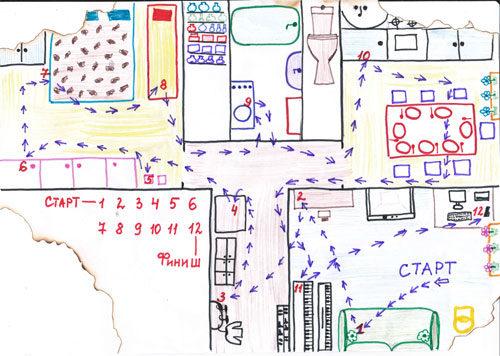 карта для поиска клада