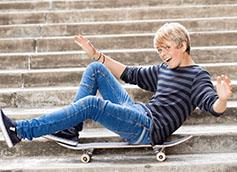 мальчик 12 лет на скейте