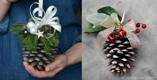 красивые шишки на елку