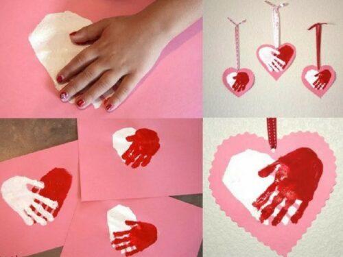 детские ладошки сердце