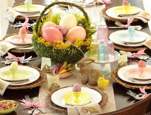 праздничный пасхальный стол