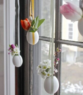 яичные вазочки на окна