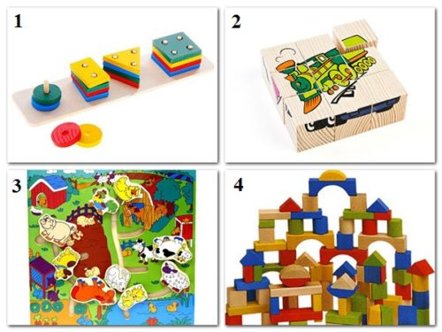 логические игрушки в 3 года