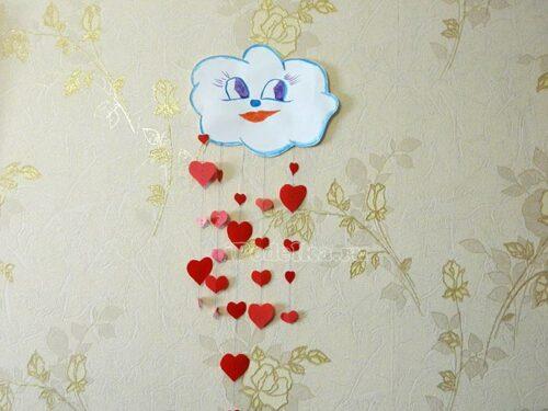 облочко с сердцами