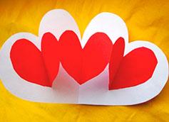 валентинка самодельная