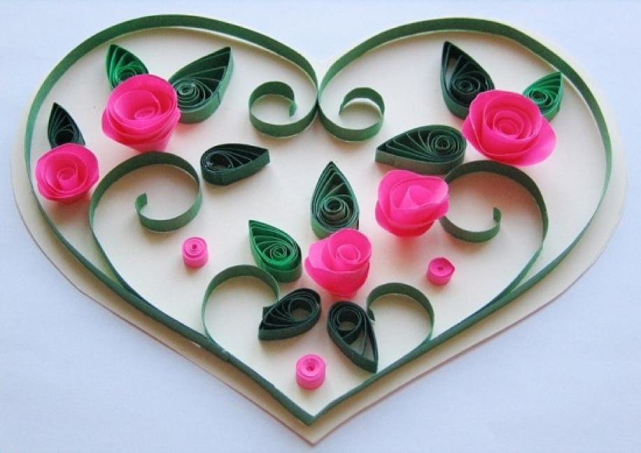 Картинки добрым, открытки на день валентина в технике квиллинг