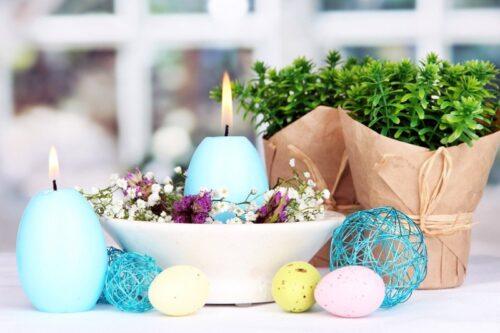Пасхальные свечи в форме яиц