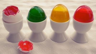 желе в форме яйца